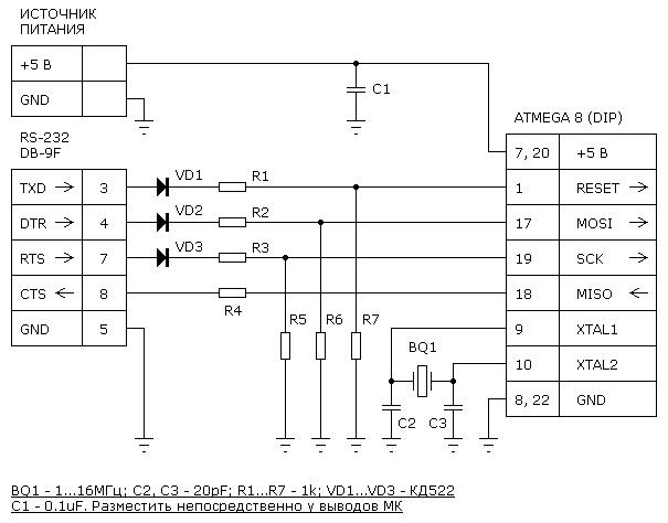Принципиальная схема адаптера