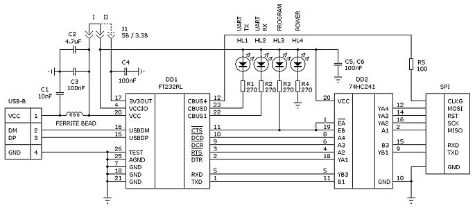 Программатор на ft232rl своими руками 52